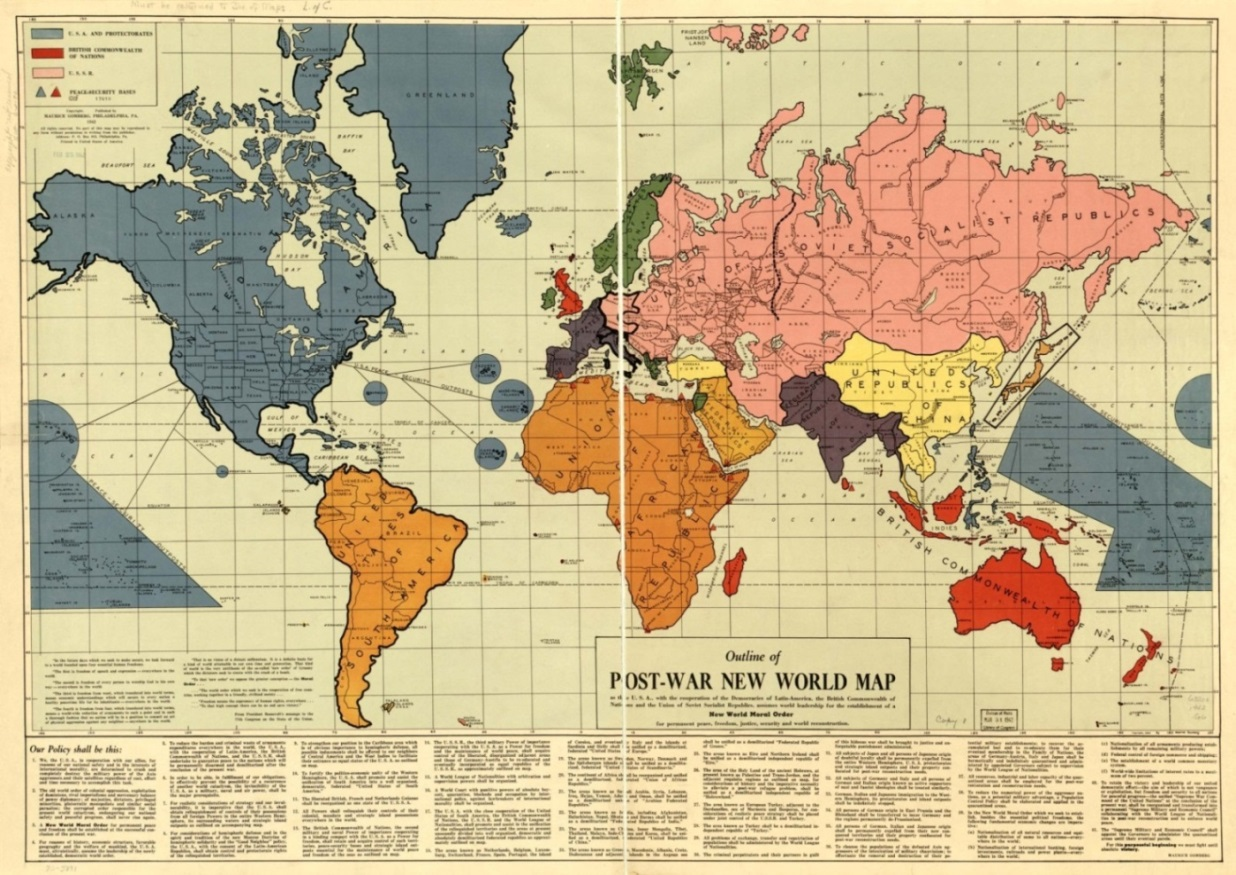 1942 map of ten regions
