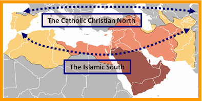 Catholic north - Islamic south